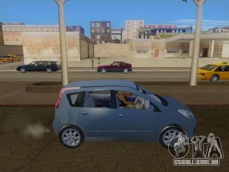 Nissan Note v1.0 Final para GTA San Andreas esquerda vista
