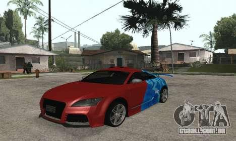 Audi TT-RS Tunable para GTA San Andreas traseira esquerda vista