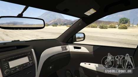 GTA 5 LAPD Subaru Impreza WRX STI traseira direita vista lateral