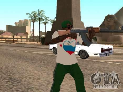 T-shirt I love Rússia para GTA San Andreas terceira tela