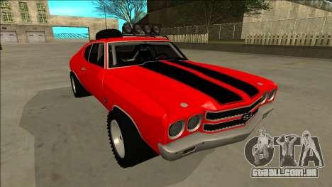 Chevrolet Chevelle Rusty Rebel para GTA San Andreas vista inferior