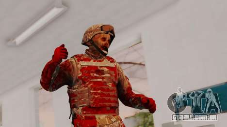 Zombie Military Skin para GTA San Andreas