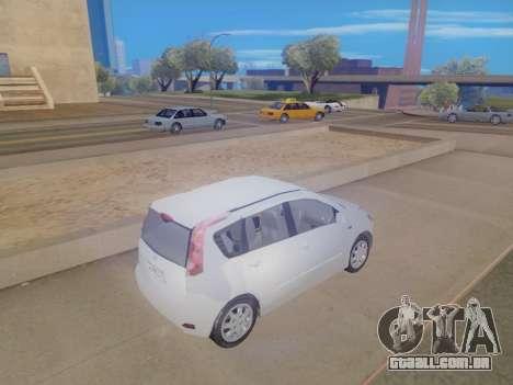 Nissan Note v1.0 Final para GTA San Andreas traseira esquerda vista