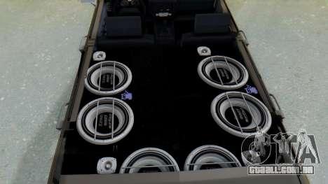 Peykan 80 Spyder para GTA San Andreas vista traseira