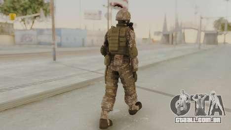 US Army Urban Soldier Gas Mask from Alpha Protoc para GTA San Andreas terceira tela