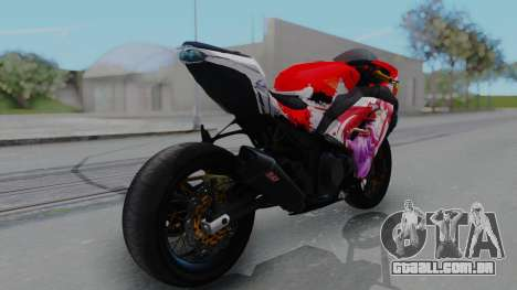 Kawasaki Ninja FI Custom Rias Gremory Itasha para GTA San Andreas esquerda vista