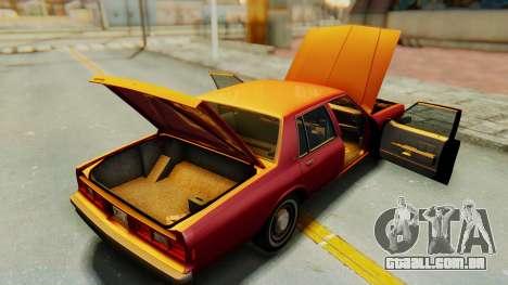 Chevrolet Impala 1984 para vista lateral GTA San Andreas