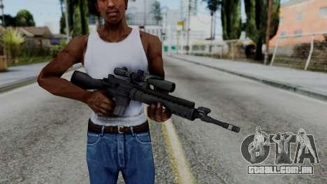 Arma AA MK12 SPR para GTA San Andreas terceira tela