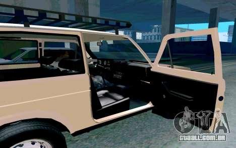 VAZ Niva para GTA San Andreas vista interior