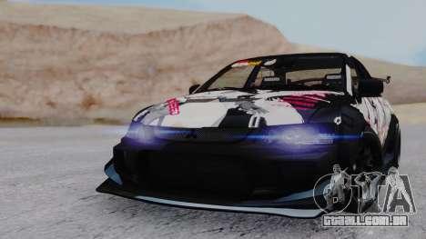 Mitsubishi Lancer Evo IX MR Tobiichi Origami para GTA San Andreas esquerda vista