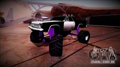 Picador Monster Truck para GTA San Andreas vista inferior