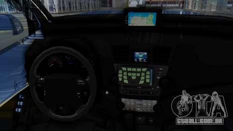 Toyota Fortuner TRD Sportivo Vossen para GTA San Andreas vista traseira