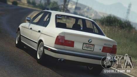 GTA 5 BMW 535i E34 traseira vista lateral esquerda