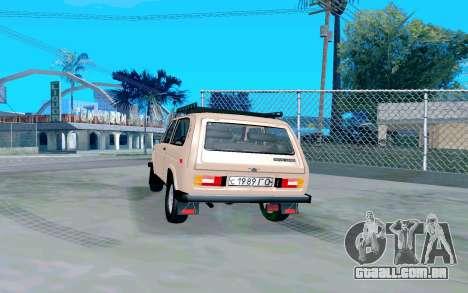 VAZ Niva para GTA San Andreas traseira esquerda vista