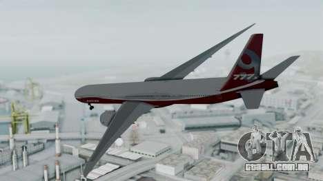 Boeing 777-9x House para GTA San Andreas esquerda vista
