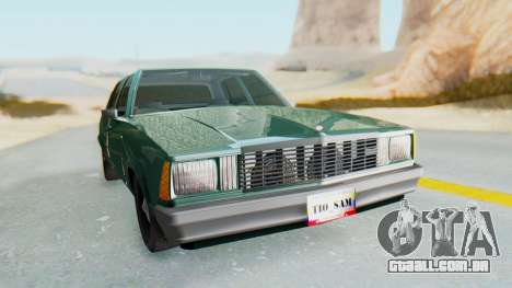 Chevrolet Malibu 1981 Twin Turbo para GTA San Andreas vista direita