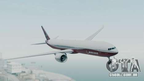Boeing 777-9x House para GTA San Andreas traseira esquerda vista