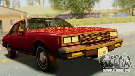 Chevrolet Impala 1984 para GTA San Andreas vista direita