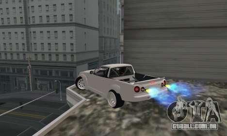 Nissan Skyline R34 Pickup para GTA San Andreas esquerda vista