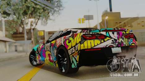 Chevrolet Corvette Stingray C7 2014 Sticker Bomb para GTA San Andreas esquerda vista