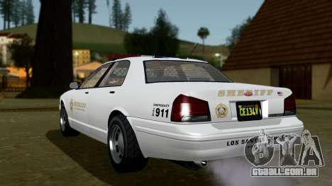 GTA 5 Vapid Stanier II Sheriff Cruiser IVF para GTA San Andreas esquerda vista