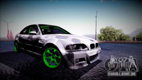 BMW M3 E46 Drift Monster Energy para GTA San Andreas esquerda vista