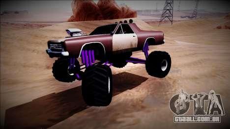 Picador Monster Truck para GTA San Andreas vista interior