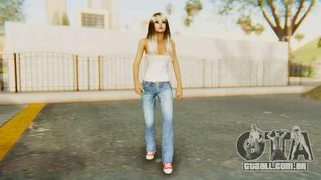Blonde White Top para GTA San Andreas segunda tela
