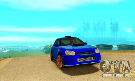 Subaru Impreza WRX STI Spec-C para GTA San Andreas esquerda vista