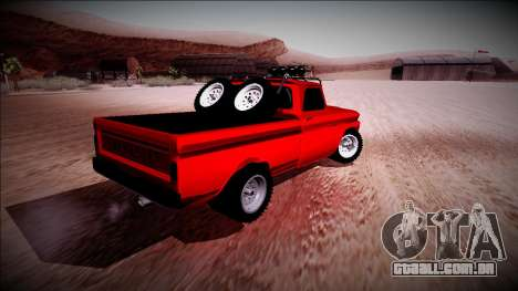Chevrolet C10 Rusty Rebel para GTA San Andreas vista direita