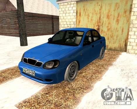 Daewoo Lanos 2001 Winter para GTA San Andreas