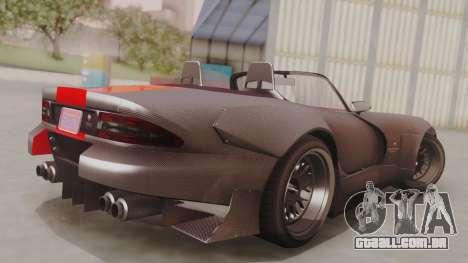 GTA 5 Bravado Banshee 900R Carbon IVF para GTA San Andreas esquerda vista