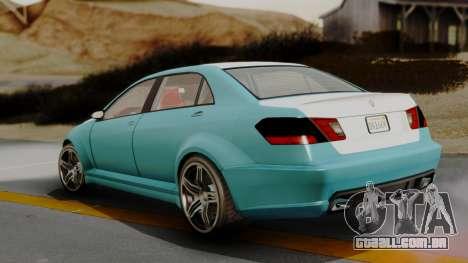 GTA 5 Benefactor Schafter LWB IVF para GTA San Andreas traseira esquerda vista