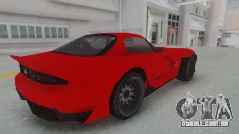 GTA 5 Bravado Banshee 900R Stock para GTA San Andreas traseira esquerda vista
