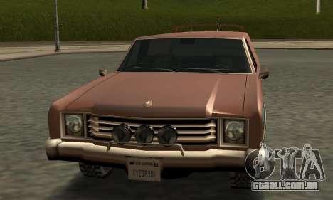 Picador Vagon Extreme para GTA San Andreas vista interior