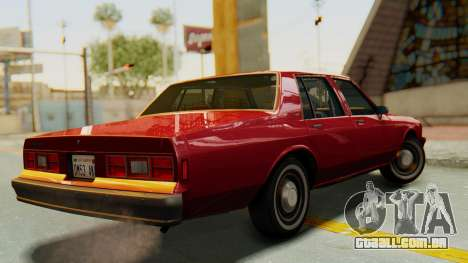 Chevrolet Impala 1984 para GTA San Andreas esquerda vista