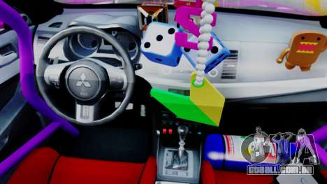 Mitsubishi Lancer Evolution X Hellaflush para GTA San Andreas vista traseira