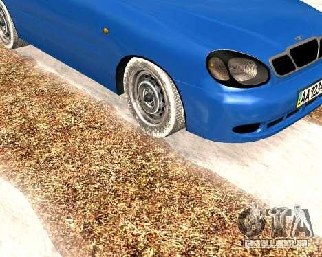 Daewoo Lanos 2001 Winter para GTA San Andreas esquerda vista
