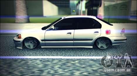 Honda Civic by Snebes para GTA San Andreas esquerda vista