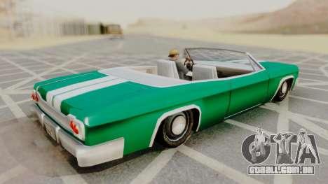 Blade F&F3 Mustang PJ para GTA San Andreas traseira esquerda vista