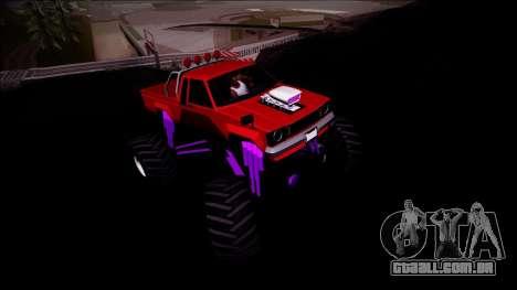 GTA 5 Karin Rebel Monster Truck para GTA San Andreas vista interior