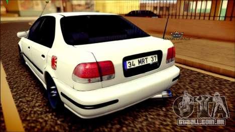 Honda Civic by Snebes para GTA San Andreas traseira esquerda vista