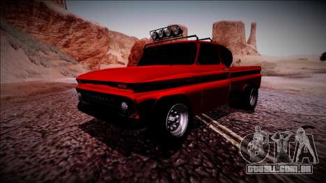 Chevrolet C10 Rusty Rebel para GTA San Andreas esquerda vista