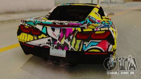 Chevrolet Corvette Stingray C7 2014 Sticker Bomb para GTA San Andreas vista traseira