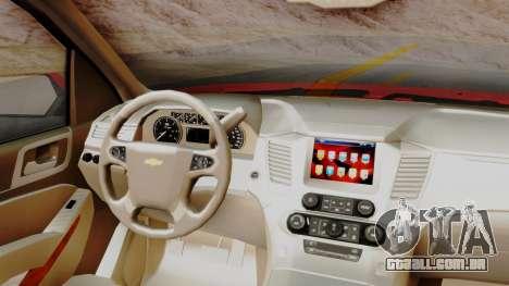 Chevrolet Suburban 2015 LTZ para GTA San Andreas vista direita
