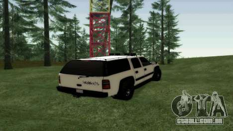Chevrolet Suburban Offroad Final Version para GTA San Andreas traseira esquerda vista