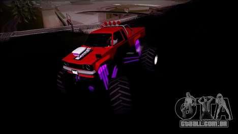 GTA 5 Karin Rebel Monster Truck para GTA San Andreas vista traseira