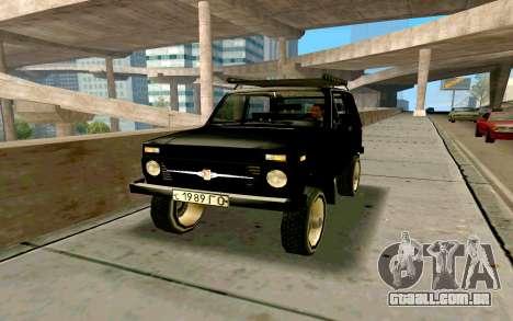 VAZ Niva para GTA San Andreas vista inferior