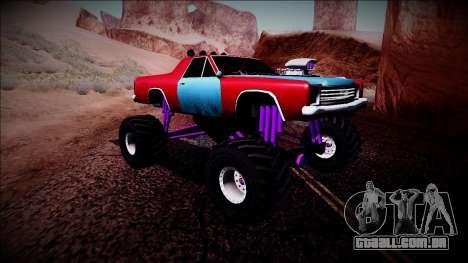 Picador Monster Truck para GTA San Andreas vista traseira