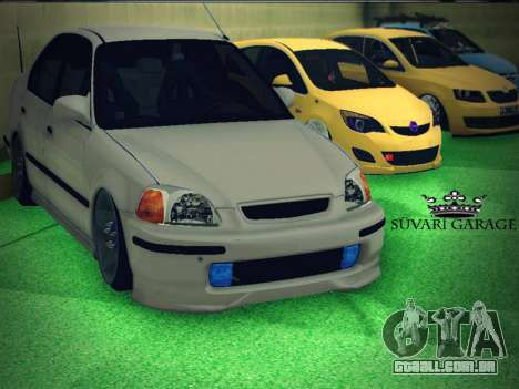 Honda Civic by Snebes para GTA San Andreas vista interior